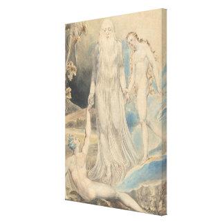 Impressão Em Canvas Anjo da presença divina que traz a véspera a Adam