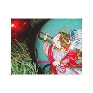 Impressão Em Canvas Anjo do Natal - arte do Natal - decorações do anjo