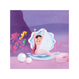 Impressão Em Canvas Annabella a sereia que acorda