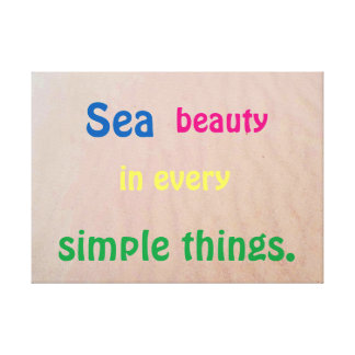 Impressão Em Canvas Areia e motivação