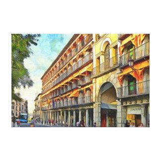 Impressão Em Canvas Arquitectura da cidade no por do sol