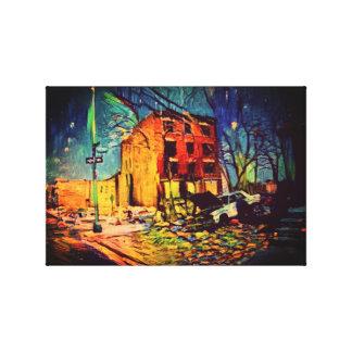 Impressão Em Canvas Arte abstracta rude dos EUA do menino - degradado