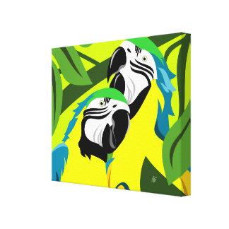Impressão Em Canvas Arte abstrata do Macaw