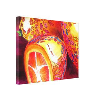 Impressão Em Canvas Arte alaranjada da aguarela da fruta do kumquat