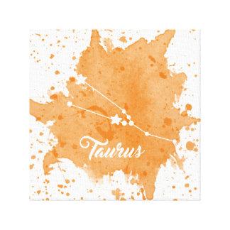 Impressão Em Canvas Arte alaranjada da parede do Taurus