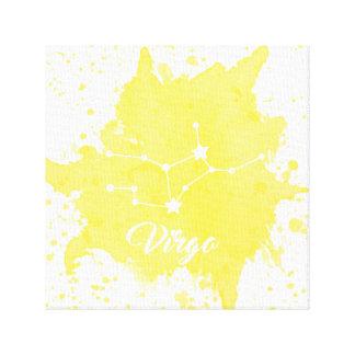 Impressão Em Canvas Arte amarela da parede do Virgo