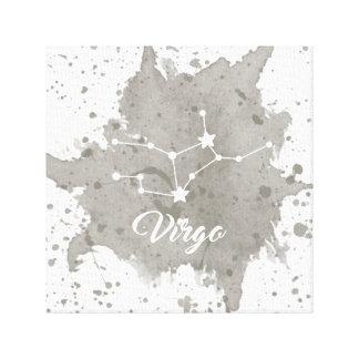 Impressão Em Canvas Arte cinzenta da parede do Virgo