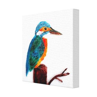 Impressão Em Canvas Arte colorida do pássaro do martinho pescatore