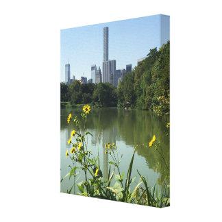 Impressão Em Canvas Arte da foto da Nova Iorque NYC do lago central