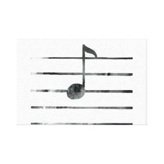 Impressão Em Canvas Arte da nota da música