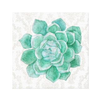 Impressão Em Canvas Arte da parede do damasco do eucalipto do cacto do