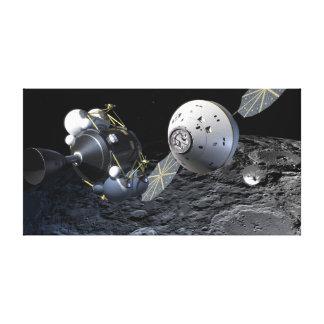 Impressão Em Canvas Arte do conceito da nave espacial de Orion na