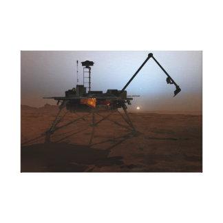 Impressão Em Canvas Arte do conceito do Lander de Phoenix Marte no