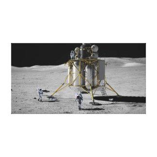 Impressão Em Canvas Arte do conceito do Lander e de astronautas