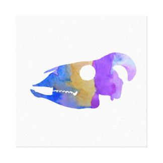 Impressão Em Canvas Arte do crânio da cabra