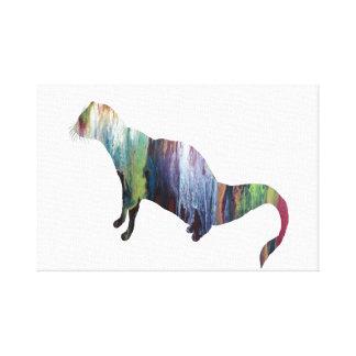 Impressão Em Canvas Arte do mangusto
