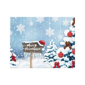 Impressão Em Canvas Arte do Natal - ilustrações do Natal