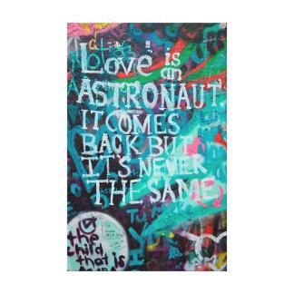 Impressão Em Canvas Arte dos grafites do amor