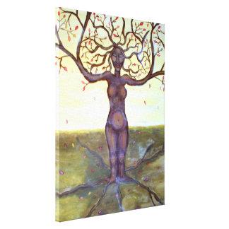 """Impressão Em Canvas Arte """"enraizada"""" da deusa da árvore"""