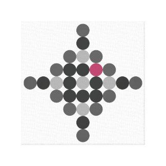 Impressão Em Canvas Arte geométrica cinzenta & cor-de-rosa