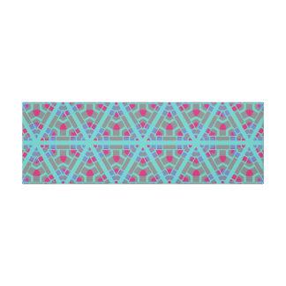 Impressão Em Canvas Arte geométrica horizontal longa da parede de