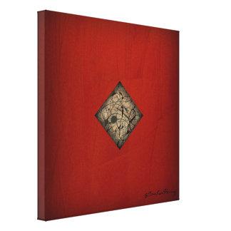 Impressão Em Canvas Arte moderna vermelha dramática do estilo do