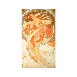 """Impressão Em Canvas Arte Nouveau do vintage da """"dança"""" - Alphonse"""