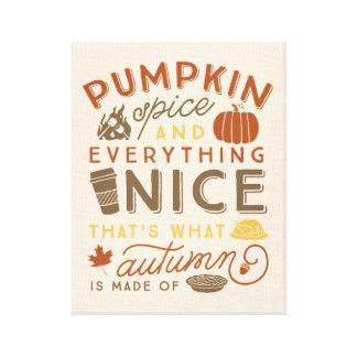 Impressão Em Canvas Arte tipográfica do outono da especiaria da