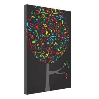 Impressão Em Canvas Árvore colorida do pop do canto da canção das