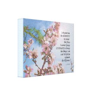 Impressão Em Canvas Árvore do céu das flores da oração da serenidade