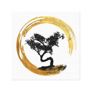 Impressão Em Canvas Árvore dos bonsais. Círculo de Enso do zen. Arte