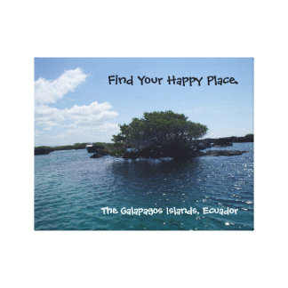 Impressão Em Canvas Árvore feliz Equador de Galápagos do lugar