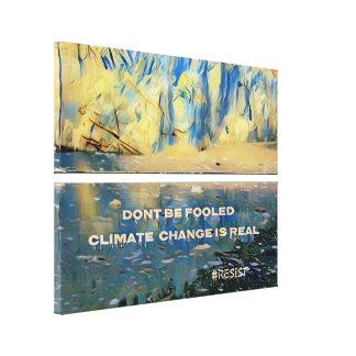 Impressão Em Canvas As alterações climáticas da geleira de