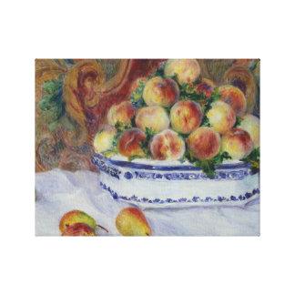 Impressão Em Canvas Auguste Renoir - ainda vida com pêssegos