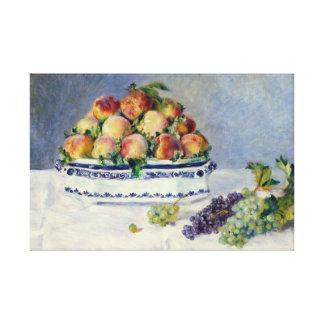 Impressão Em Canvas Auguste Renoir - ainda vida com pêssegos e uvas