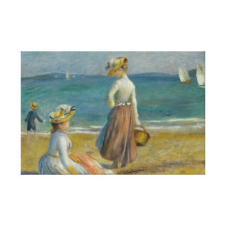 Impressão Em Canvas Auguste Renoir - figuras na praia