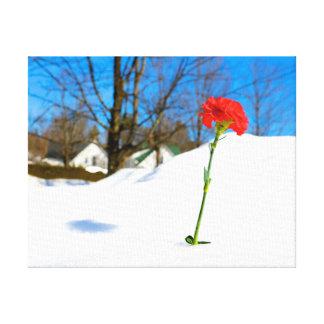 Impressão Em Canvas Aumentou na neve