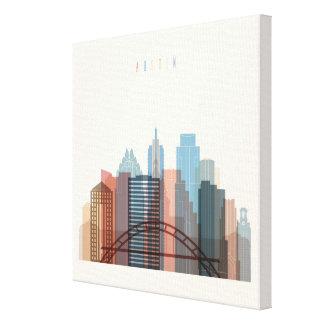 Impressão Em Canvas Austin, skyline da cidade de Texas  