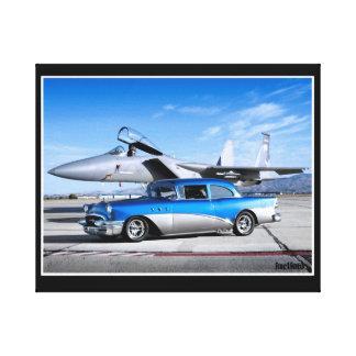 Impressão Em Canvas Avião de combate 1955 clássico especial do carro