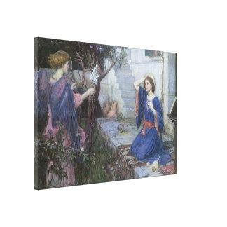 Impressão Em Canvas Aviso pelo Waterhouse de JW, belas artes do