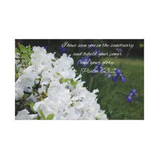 Impressão Em Canvas Azálea do branco do 63:2 do salmo