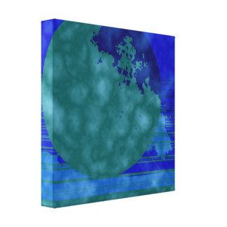 Impressão Em Canvas azul e verde