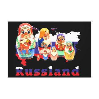 Impressão Em Canvas Babuschka Matrjoschka Matryoshka linho
