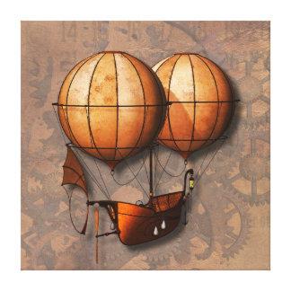 Impressão Em Canvas Balão de ar retro de Steampunk do vintage com