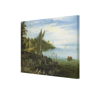 Impressão Em Canvas Banco de rio daqui até janeiro Brueghel a pessoa