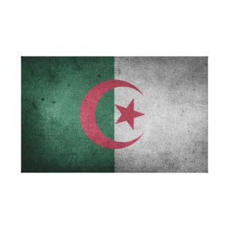 Impressão Em Canvas Bandeira afligida de Argélia