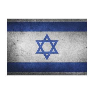 Impressão Em Canvas Bandeira afligida vintage de Israel