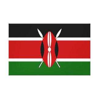 Impressão Em Canvas Bandeira de Kenya