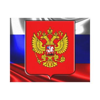 Impressão Em Canvas Bandeira do russo