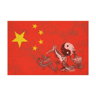 Impressão Em Canvas Bandeira e símbolos de China ID158